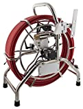 Steel Dragon Tools X-142 Aluminum Alloy Cable Reel and 60m (196 ft) Red Fiberglass Cable for Inspection Cameras