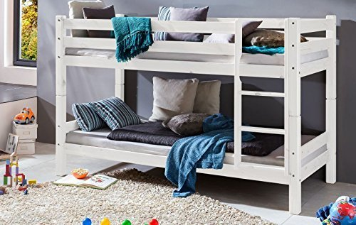 Etagenbett Einzelbetten : Etagenbett kinderbett marco kiefer massiv lackiert teilbar zu