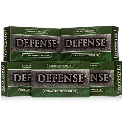 - Defense Soap, Peppermint, 4 Ounce Bar (Pack of 5) - 100 Percent Natural Pharmaceutical Grade Tea Tree Oil and Eucalyptus Oil
