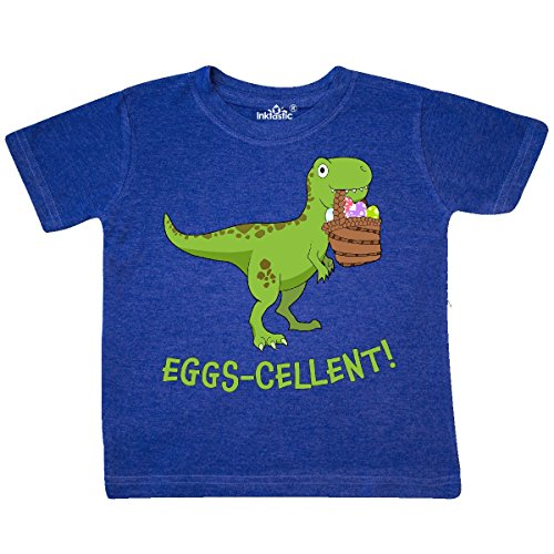inktastic Eggs-cellent! Cute Easter Toddler T-Shirt 4T Retro Heather Royal (Retro Tees Toddler)
