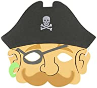 Rhode Island Novelty Foam Pirate Masks, 12-Pack