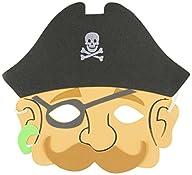 Rhode Island Novelty Foam Pirate Masks, 12-Pack
