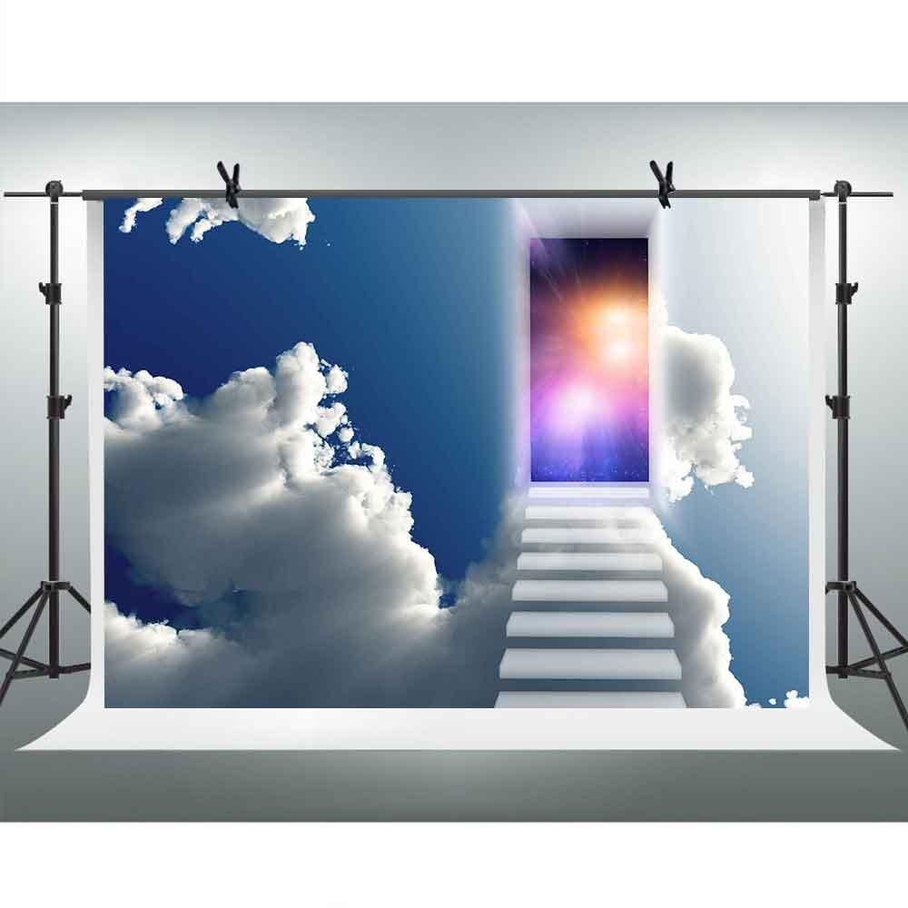 お得 Dreamドアステップカラフルライト写真バックドロップブルー