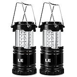 2er-Set LED Camping Laterne - Zusammenklappbar mit 30 LEDs - 14 Stunden Beleuchtung