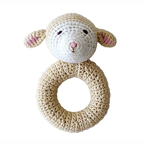 Organic Rattle Toy (Organic Baby Toys - Cheengoo Lamb Ring Rattle)