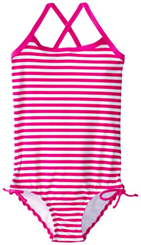 (Kanu Surf Little Girls' Bali One Piece Swimsuit, Pink, 6X )