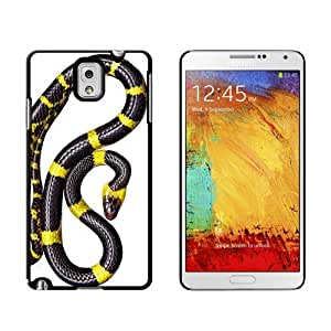 Black and Yellow Snake Reptile Case for Samsung Galaxy Note III 3 iphone case for menwaterproofase for iphone