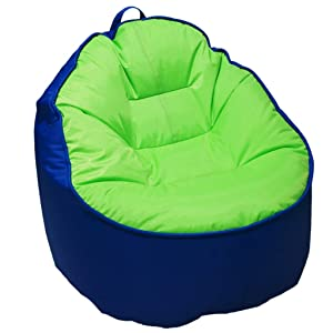 RenShiMinShop Children's Sofa Fabric Skin-Friendly Breathable Children's Sofa Soft Children's Lazy Sofa (Color : Blue, Size : 717162cm)