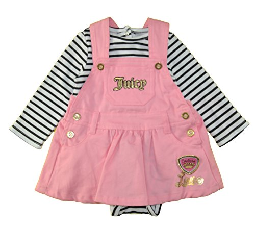 Juicy Couture Baby Girls' Long Sleeve Bodysuit &