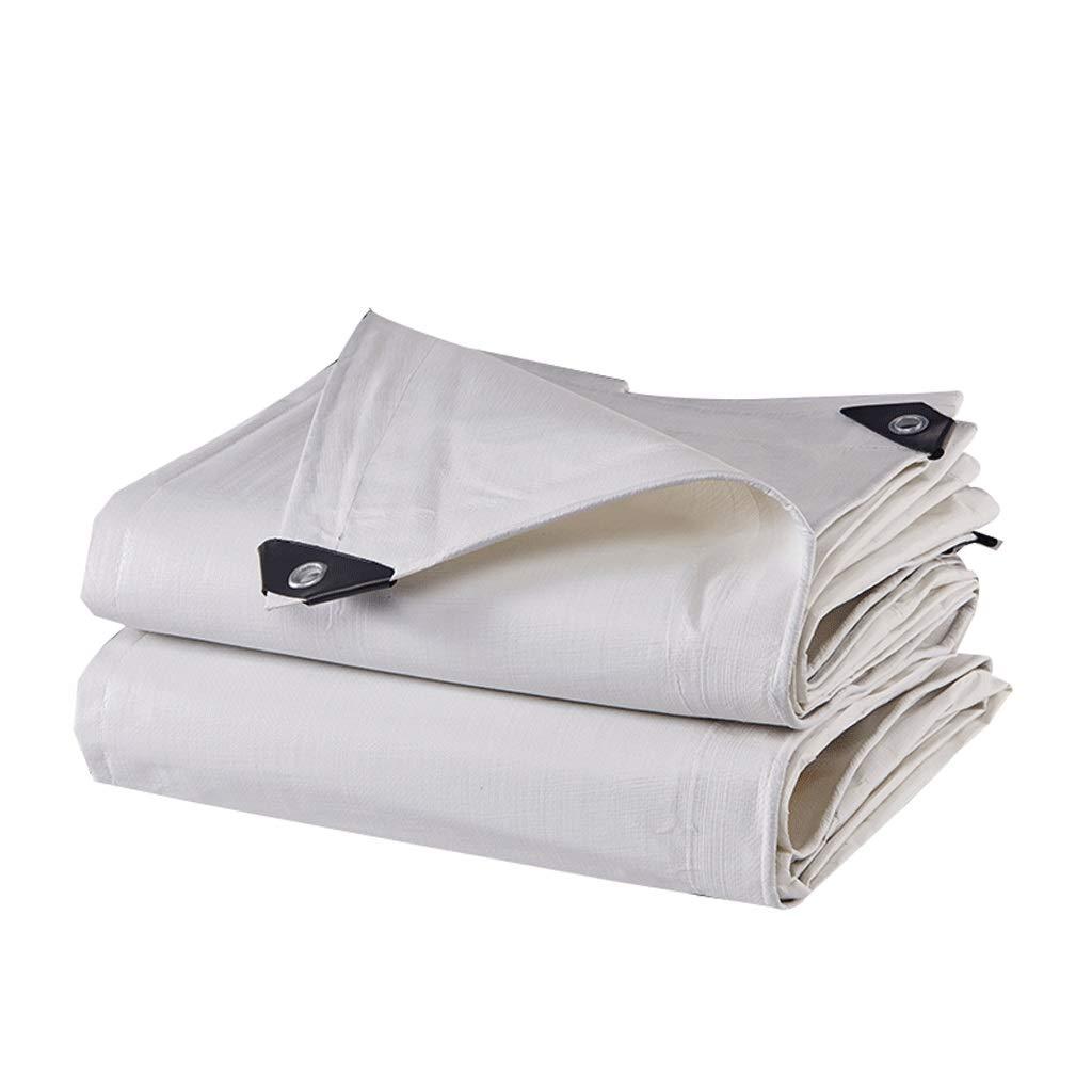 Duanguoyan BÂche- Tissu imperméable de Prougeection extérieure de Voiture de Toile de Prougeection extérieure de Tissu de Pluie de Prougeection Solaire de Tissu (Couleur   blanc, Taille   10X6m) blanc 10X6m