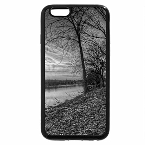 iPhone 6S Plus Case, iPhone 6 Plus Case (Black & White) - winter day sunset on a river hdr