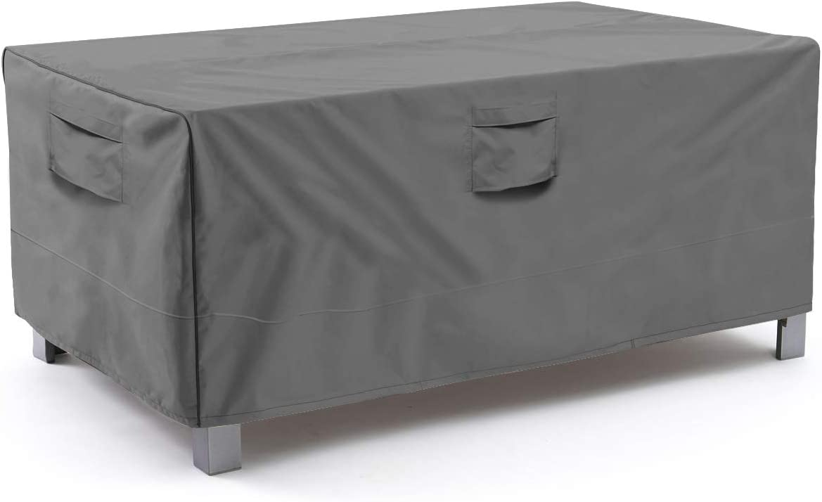 Amazon Com Vailge Veranda Rectangular Oval Patio Table Cover Heavy Duty And Waterproof Outdoor Lawn Patio Furniture Covers X Large Grey Garden Outdoor