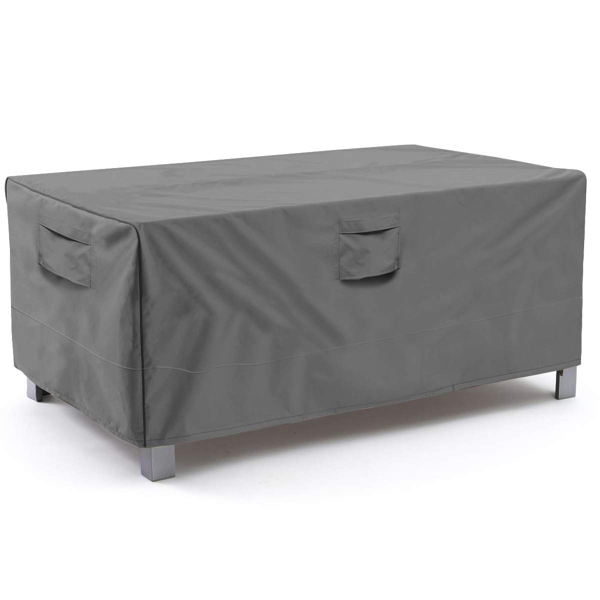 Vailge Veranda Rectangular/Oval Patio Table Cover, Heavy Duty and Waterproof Outdoor Lawn Patio Furniture Covers, Large Grey
