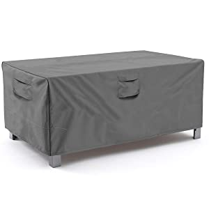 Vailge Veranda Rectangular/Oval Patio Table Cover, Heavy Duty and Waterproof Outdoor Lawn Patio Furniture Covers, X-Large Grey