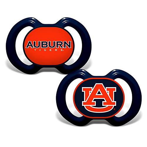 Baby Fanatic 2 Piece Pacifier Set, Auburn University (Auburn Tigers Pacifier)