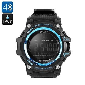 Montre connectée Bluetooth, horloge sport Smartwatch IP67 étanche Horloge numérique Homme Activity Tracker SMS notifier Podomètre ...