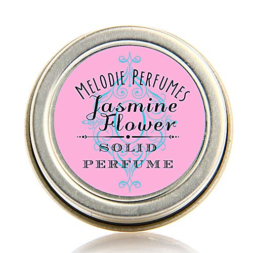 Melodie Perfumes Jasmine Flower essential oil solid perfume for women. Women's Natural fragrance, long lasting, romantic.50 tin - Flower Solid Perfume