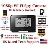 1080P HD WiFi Battery Powered Weather Clock Radio Spy Camera with 10 Hour Battery Life Spy Camera Hidden Nanny Cam Spy Gadget Spy Gear