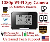 1080P HD WiFi Battery Powered Weather Clock Radio Spy Camera with 10 Hour Battery Life Spy Camera Hidden Nanny Cam Spy Gadget Spy Gear