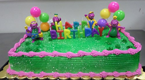 [CakeSupplyShop CKB6Y -Barney Birthday Cake Decoration Party Favors Figurine Toys] (Barney Costume For Baby)