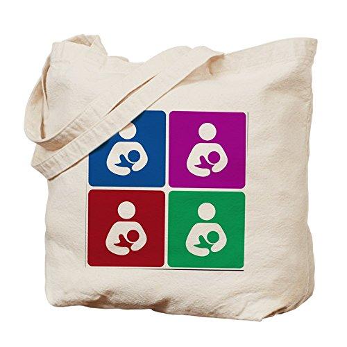 CafePress–Pop icono de la lactancia materna–Gamuza de bolsa de lona bolsa, bolsa de la compra