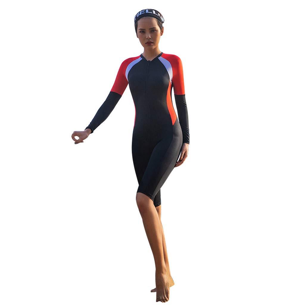 AIEason 2mm Wetsuit Women, Women's Shorty Wet Suit Premium Neoprene One Piece Wet Suits Fishing, Diving,Surfing, Snorkeling Red by AIEason