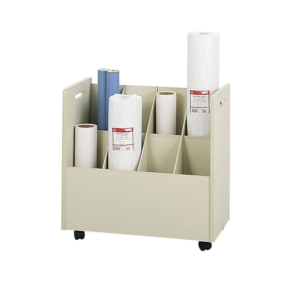 PNo: 3045 MP: 3045 MN: 3045 Laminate Mobile Roll File, 8 Compartments, 30-1/8w x 15-3/4...