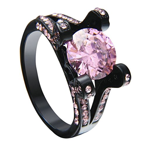 Bishilin-Black-Gold-Plated-Couple-Wedding-Rings-Bands-for-Women-with-AAA-Pink-Cubic-Zirconia-Inlay