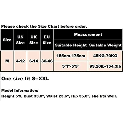 evershare Women Sexy Lingerie Bodystocking Fishnet Floral Crotchless Hole Front Bodysuit For Sex Red