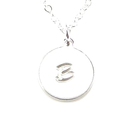 Amazon personalized initial necklace customized alphabet personalized initial necklace customized alphabet pendant letter charm jewelry gift 1 disk necklace mozeypictures Choice Image