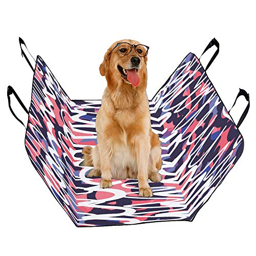 JTMOVING Fashion Oxford Pet Car Seat Mural Decorative Wall Hanging Art Waterproof Nonslip Canine Pet Dog Bed Hammock Convertible for Cars Trucks SUV