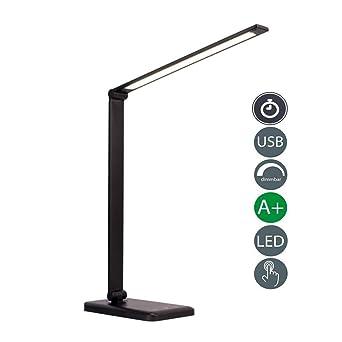 Lámpara Escritorio LED,Lámpara de Mesa USB regulable Recargable (3 ...