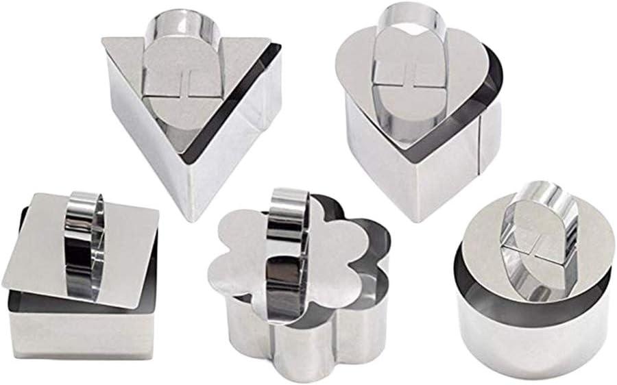 Hemoton 4pcs Cake Rings Stainless Steel Adjustable Mousse Rings Baking Pastry Ring Mold Mould Random Pattern