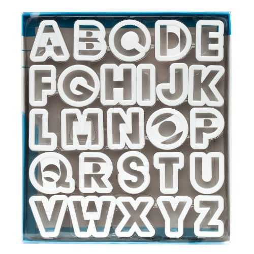Ateco 5770 Alphabet Cookie Cutter Set