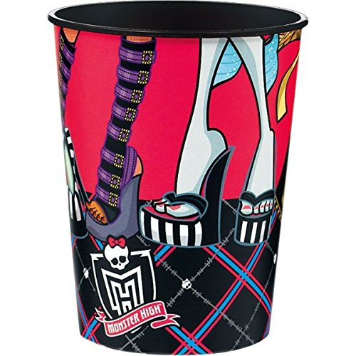 Amscan Monster High Cups Birthday Party Favour (1 Piece), Multi Color, 16 oz.
