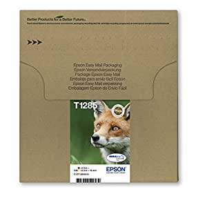 Epson C13T12854510 - Pack de 4 cartuchos de tinta, embalaje envío fácil, color