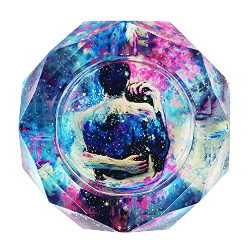 SEA or STAR Crystal Ashtray for Cigarettes Beautiful Decorations for Homes, Cafes, Bars (Hug)
