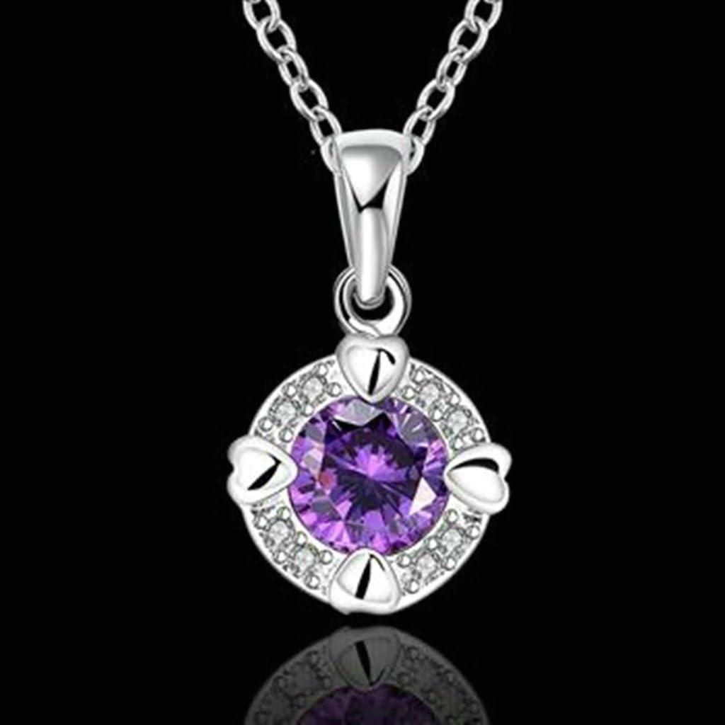 KnSam Women Alloy Pendant Necklaces Round Crystal Novelty Necklace