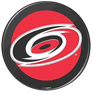 "Carolina Hurricanes Black Hockey Puck Laminated Cardstock Cutout NHL Hockey Sports Party Decoration, 12""."