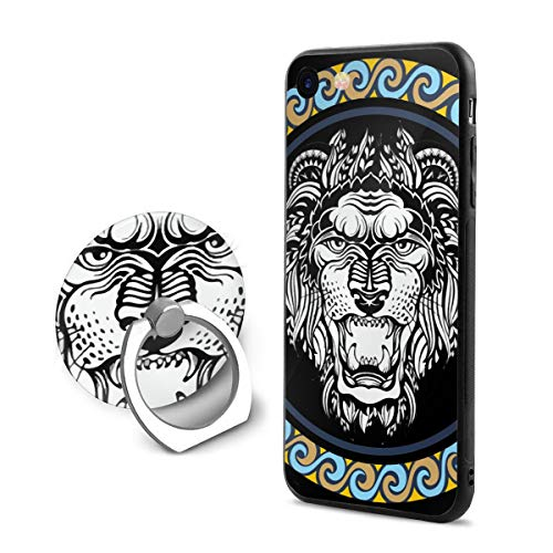 8c1e57a9dda SJDEI5W Leo iPhone 7 8 Case + Finger Ring Stand 360 Rotation Cell Phone  Ring Stand Holder Grip Kickstand Universal Mobile Phone Ring
