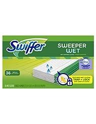 Swiffer Sweeper Wet Sweeping Pad Refills, Hardwood Floor Mop ...