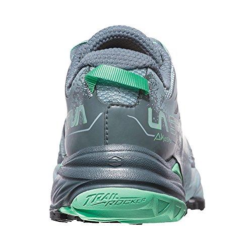 La Sportiva Akasha Running Shoe - Womens Stone Blue/Jade Green YUmrRB1O