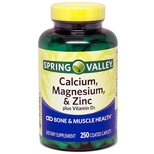 Spring Valley - Calcium Magnesium and Zinc, Plus Vitamin D3, 250 Coated Caplets