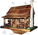 Cheap Amish Country Rustic Handmade Log Cabin Bird Feeder with Rock Chimney, Base 20″ Wide X 14″ Deep X 18″ to Top of Chimney. Easy to Fill and Maintain. The Cedar Shake Roof Lifts Off to Refill. This Feeder Is Very Unique and Attractive. The Country Log Cabin Bird Feeder Is Designed to Keep the Birds Comfortable During Bad Weather. Use the Birdfeeder in the Winter to Assist Our Small Friends Find Food At a Time When the Snow Covers Everything. Place It on a Post in the Spring and Summer, Winter, and Fall, Fill It with Bird Goodies, Watch the Feathery Critters Flutter In. Sit on the Porch or Watch Out the Window and Listen to the Song Birds Thanking You.