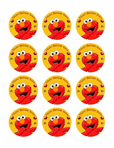 Elmo - Edible Cupcake Toppers - 2