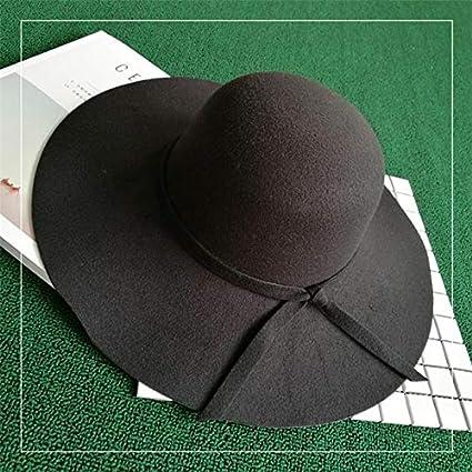 Khaki Dosige Damen-H/üte Filzhut Eleganter Hut M/ütze Hut Mode Fischerhut H/üte Herbst und Winter Size 57CM