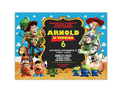 Custom Toy Story Birthday Party Invitations for Kids, 10pc-100pc 4