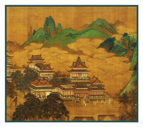 (Orenco Originals Japanese Ming Dynasty Golden City Counted Cross Stitch Pattern )