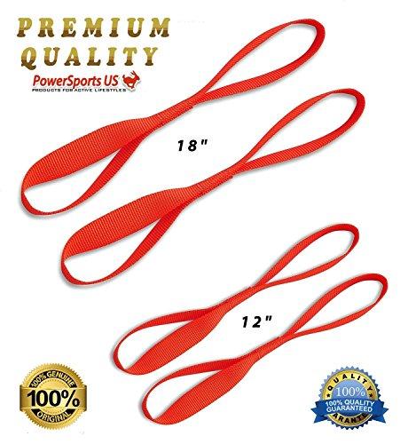 GENUINE-PowerSportsUS-Soft-Loop-Tie-Down-Straps-4-Pack-Custom-safety-neon-orange-SOFTIE-12-18-tie-downs