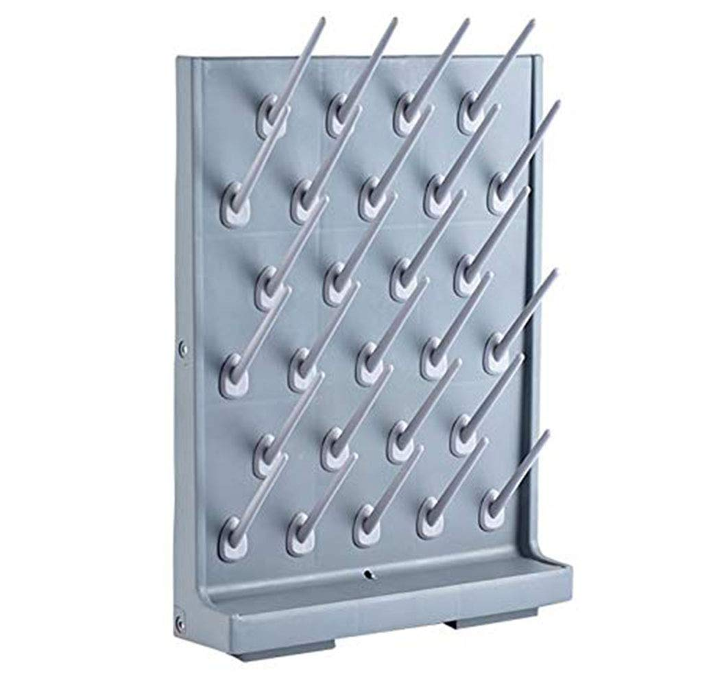 Drying Rack 27 Pegs Lab Supply Pegboard Bench-top/Wall-Mount Laboratory Glassware 27 Detachable PegsLab Drying Draining Rack Cleaning Equipment Grey by YTFLOT